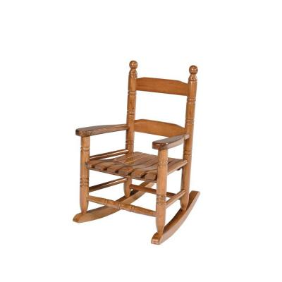 Natural Wooden Child Rocking Patio Chair