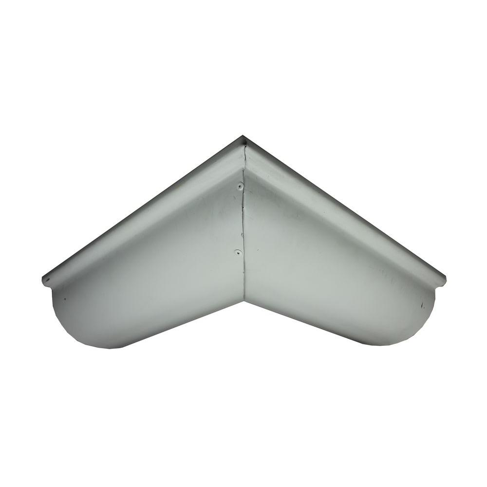 Spectra Metals 6 in. Half Round Low Glass White Aluminum Outside Miter