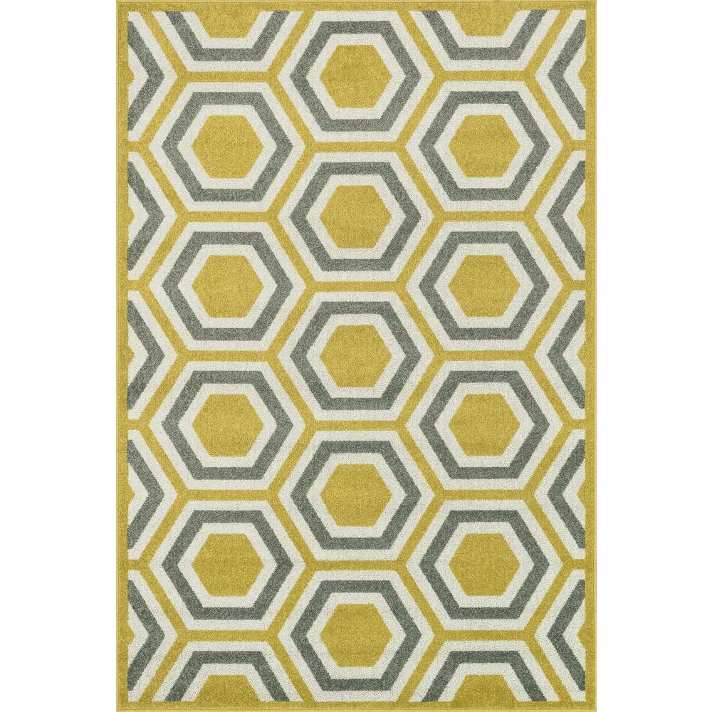 Loloi Rugs Catalina Lifestyle Collection Citron/Grey 2 ft. 3 in. x 3 ft. 9 in. Area Rug