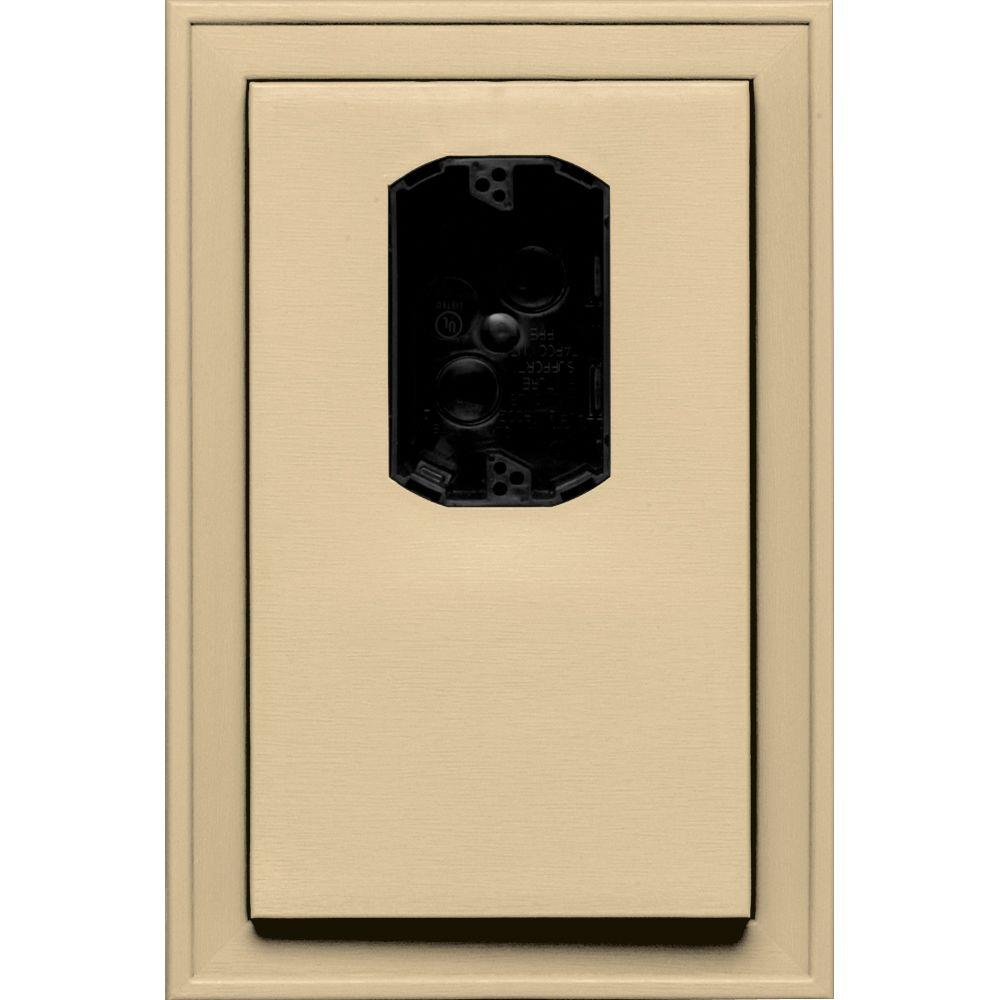 8.125 in. x 12 in. #012 Dark Almond Jumbo Electrical Mounting