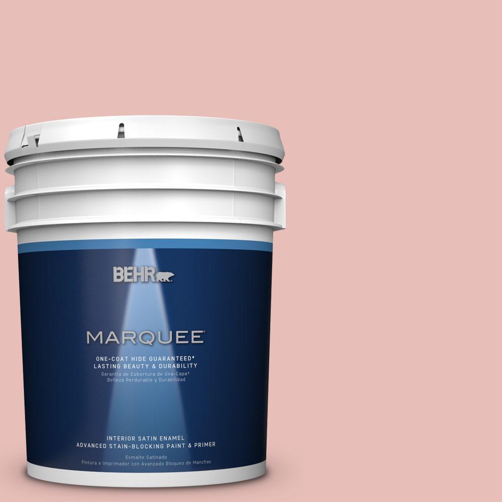 5 gal. #T18-01 Positively Pink Satin Enamel Interior Paint