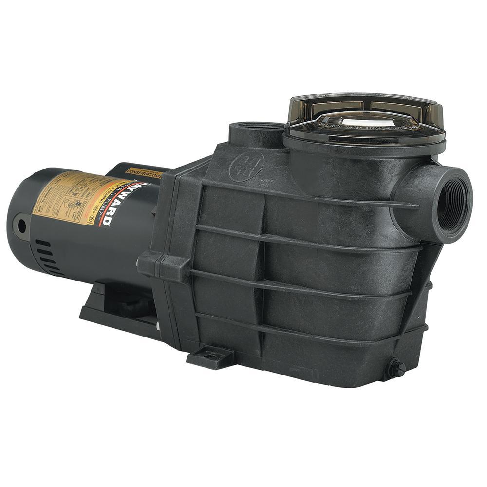 1 HP 115-Volt to 230-Volt 1½ in. Plumbing Super II Inground Single Speed  Pool Pump
