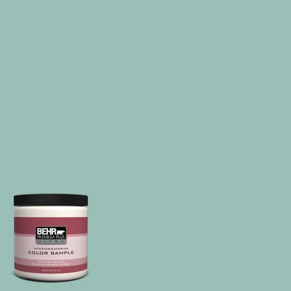 BEHR Premium Plus Ultra 8 oz. #PPU12-7 Spring Stream Interior/Exterior Paint Sample