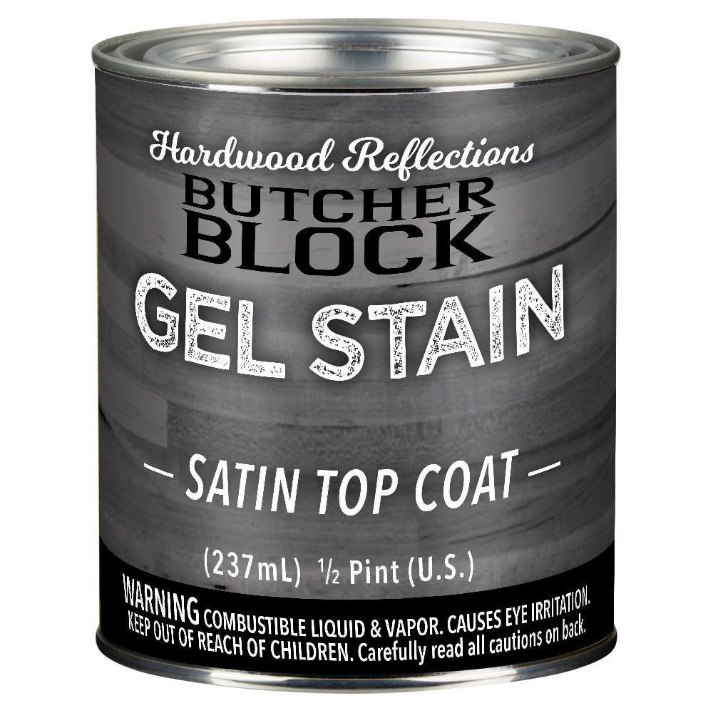 1/2 Pint Clear Oil-Based Interior Satin Butcher Block Wood Sealer Topcoat