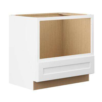 Shaker Ready To Assemble 30 in. W x 34.5 in. H x 24 in. D Plywood Specialty Base Kitchen Cabinet in Denver White