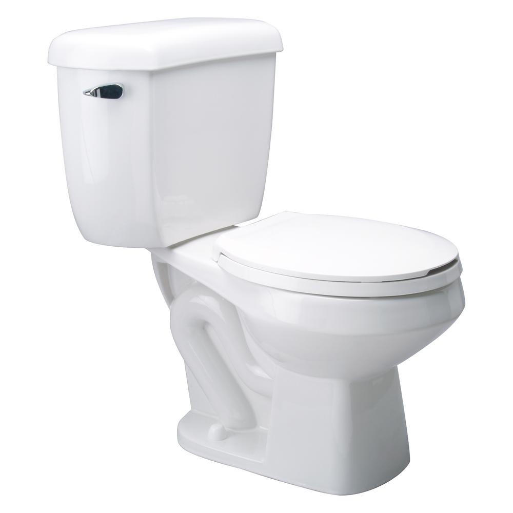 Zurn EcoVantage 2-Piece 1.0 GPF Round Front Single Flush Pressure ...