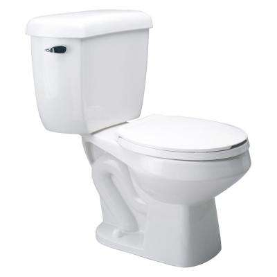 EcoVantage 2-Piece 1.0 GPF Round Front Single Flush Pressure Assist Toilet in White