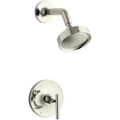 Purist 1-Handle Tub and Shower Faucet Trim Kit with Lever Handle in Polished Nickel (Valve Not Included)