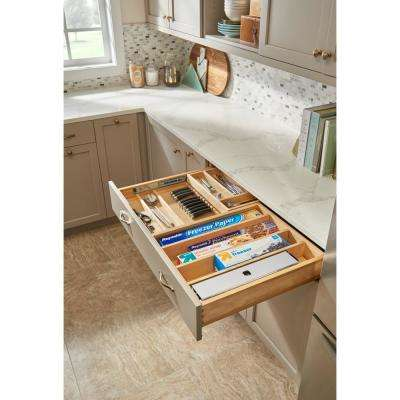 28.5 in. Tiered Cutlery Drawer with Soft-Close Slides for frameless