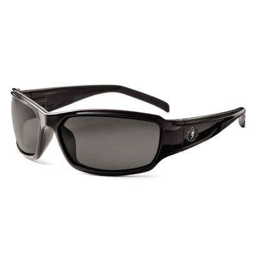 Skullerz Thor Black Polarized Safety Glasses, Tinted Lens - ANSI Certified
