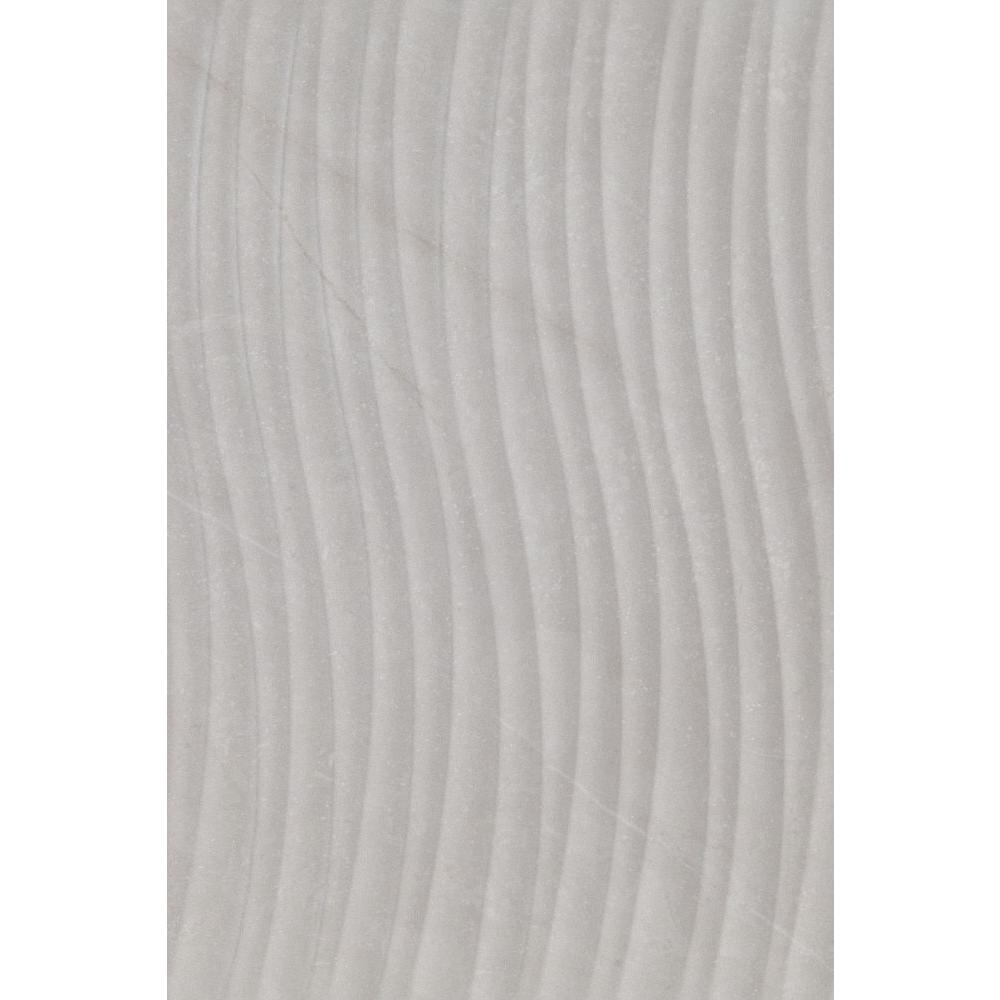 Sonoma Gray Wave Decor 8 in. x 12 in. Ceramic Wall