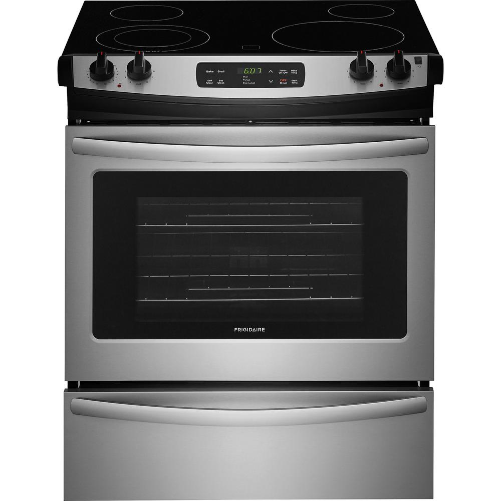 Slide In Electric Range With Self Cleaning Oven Stainless Steel