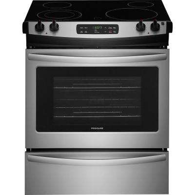 30 in. 4.6 cu. ft. Slide-In Electric Range with Self-Cleaning Oven in Stainless Steel