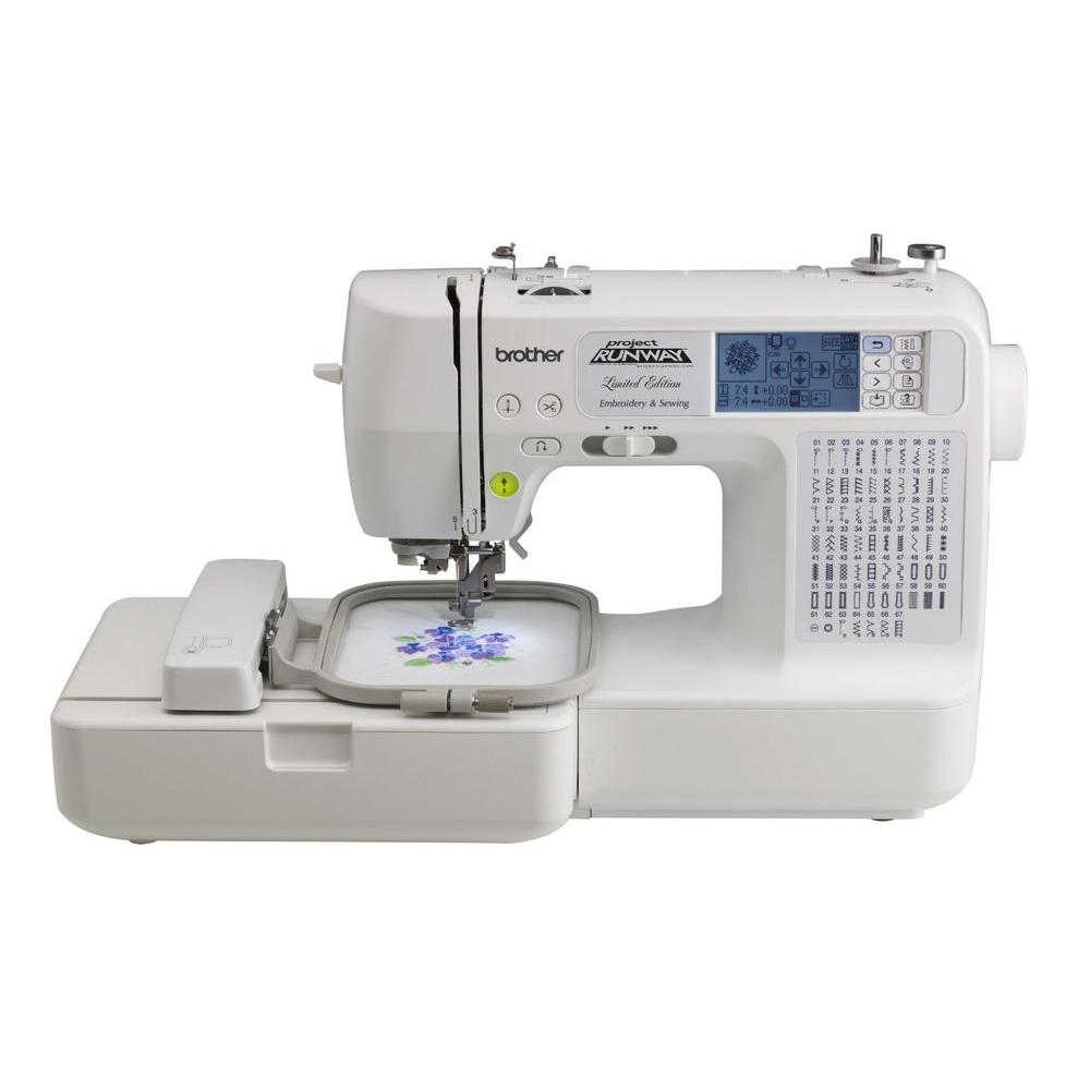 Sewing and Embroidery Machine With Rolling Bag,  White