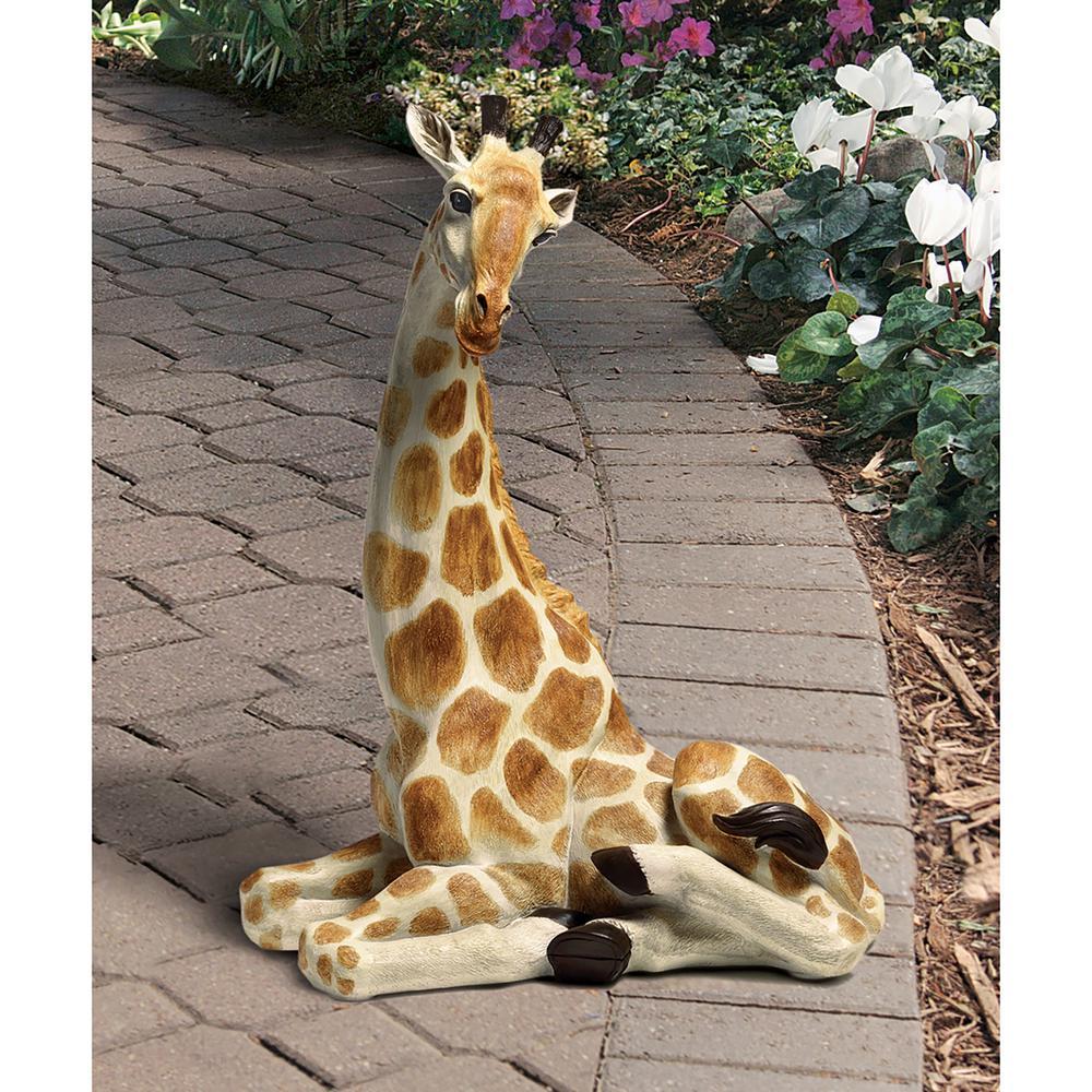 20.5 in. H Zari the Resting Giraffe Statue