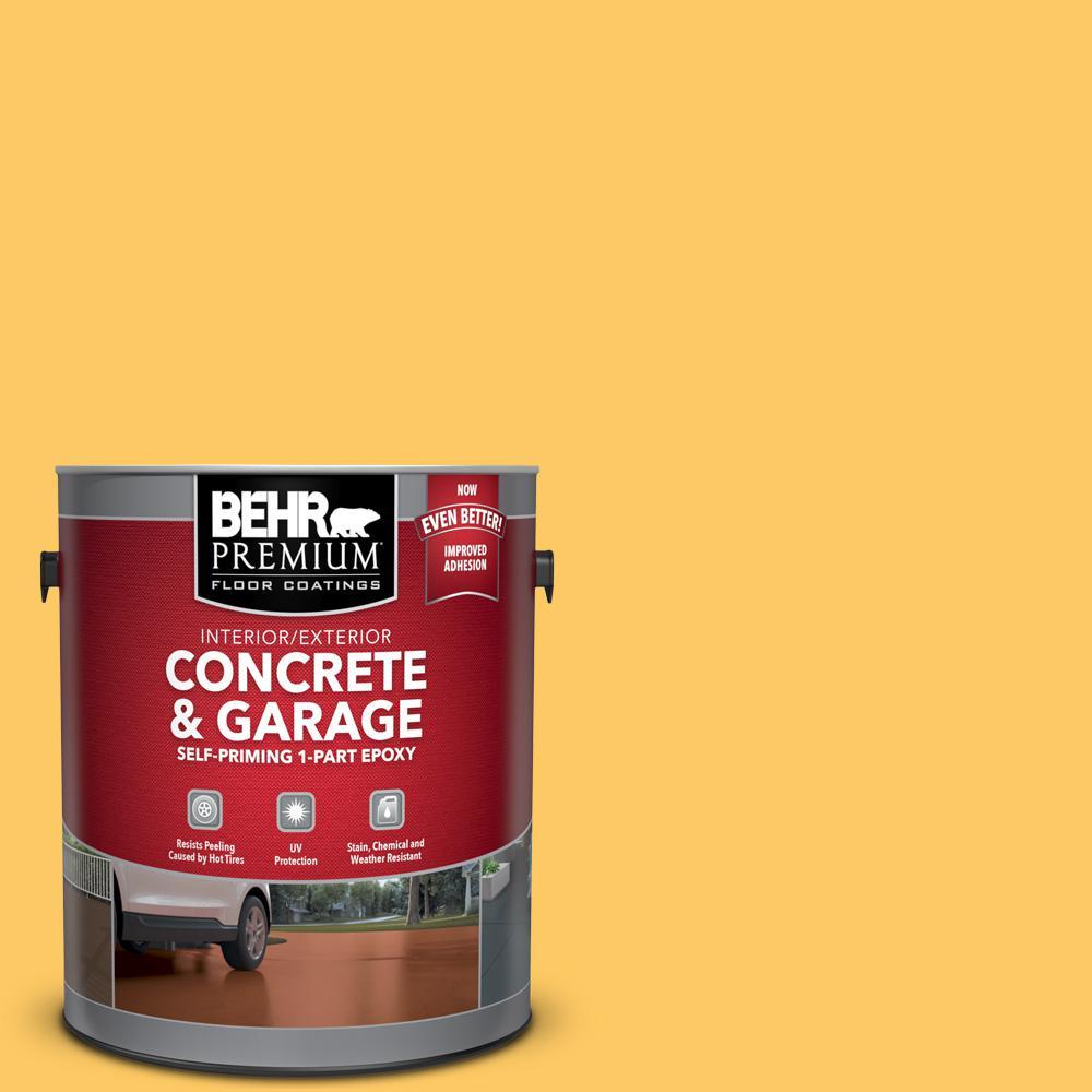 BEHR Premium 1 gal. #P270-5 Fuzzy Duckling Self-Priming 1-Part Epoxy Satin Interior/Exterior Concrete and Garage Floor Paint