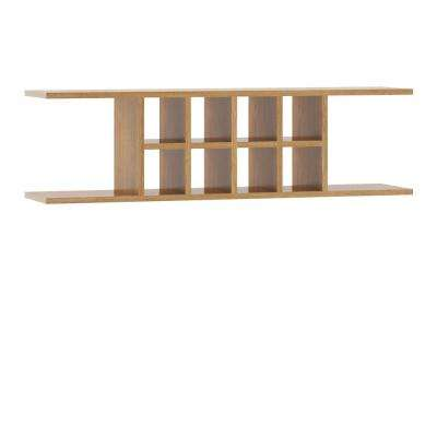Ready to Assemble 48x13.5x11.25 in. Flex Wall Shelf in Medium Oak