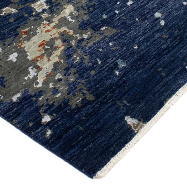 Solo Rugs Evan Transitional Navy 10 Ft X 14 Ft Hand Knotted Area Rug S3516 10001400 Mul2 The Home Depot