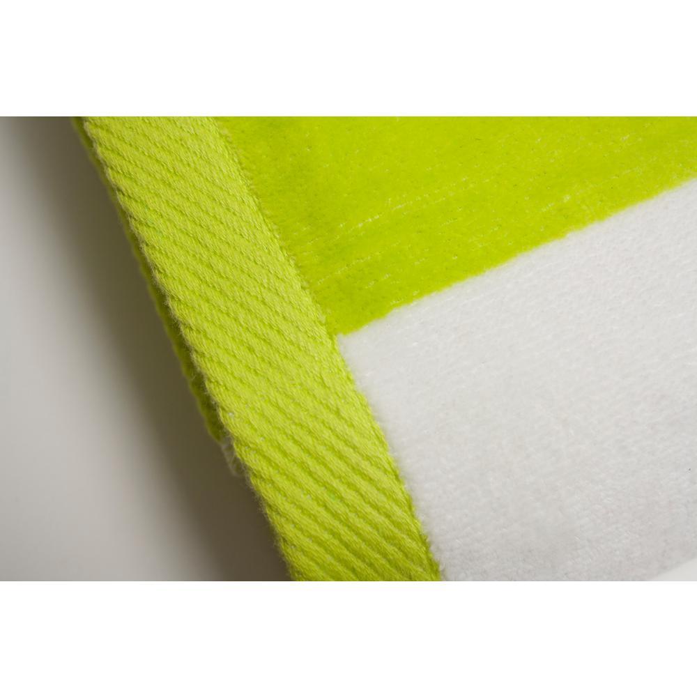 3b38d40f Espalma Tropical Cabana 100% Cotton Beach Towel in Lime 826719 - The ...