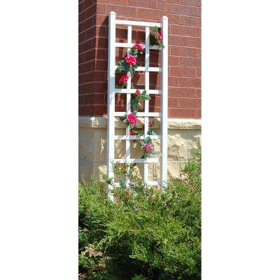 75 in. x 22 in. White Vinyl PVC Elmwood Trellis
