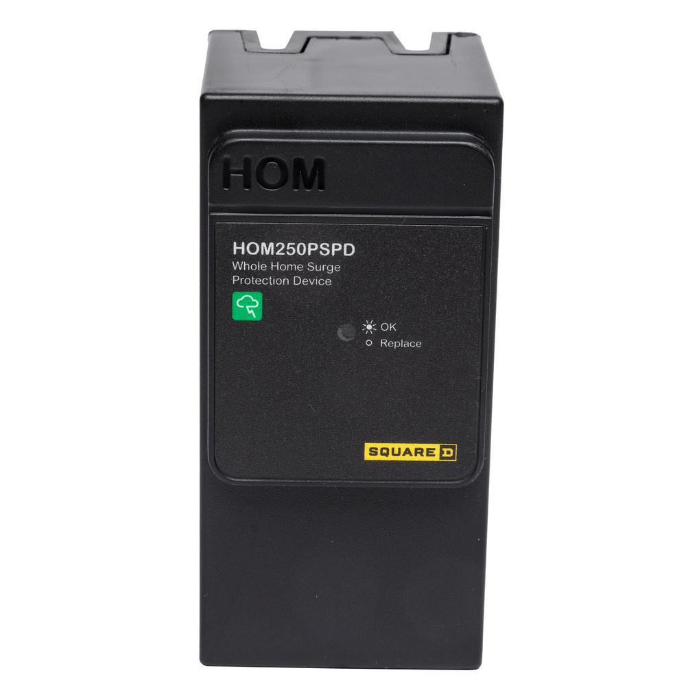 Square D Homeline 50 kA Plug-On Neutral Whole House Surge Protective ...