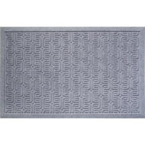 Entryways Geometric Pattern 22 inch x 35 inch Weather Beater Door Mat by Entryways