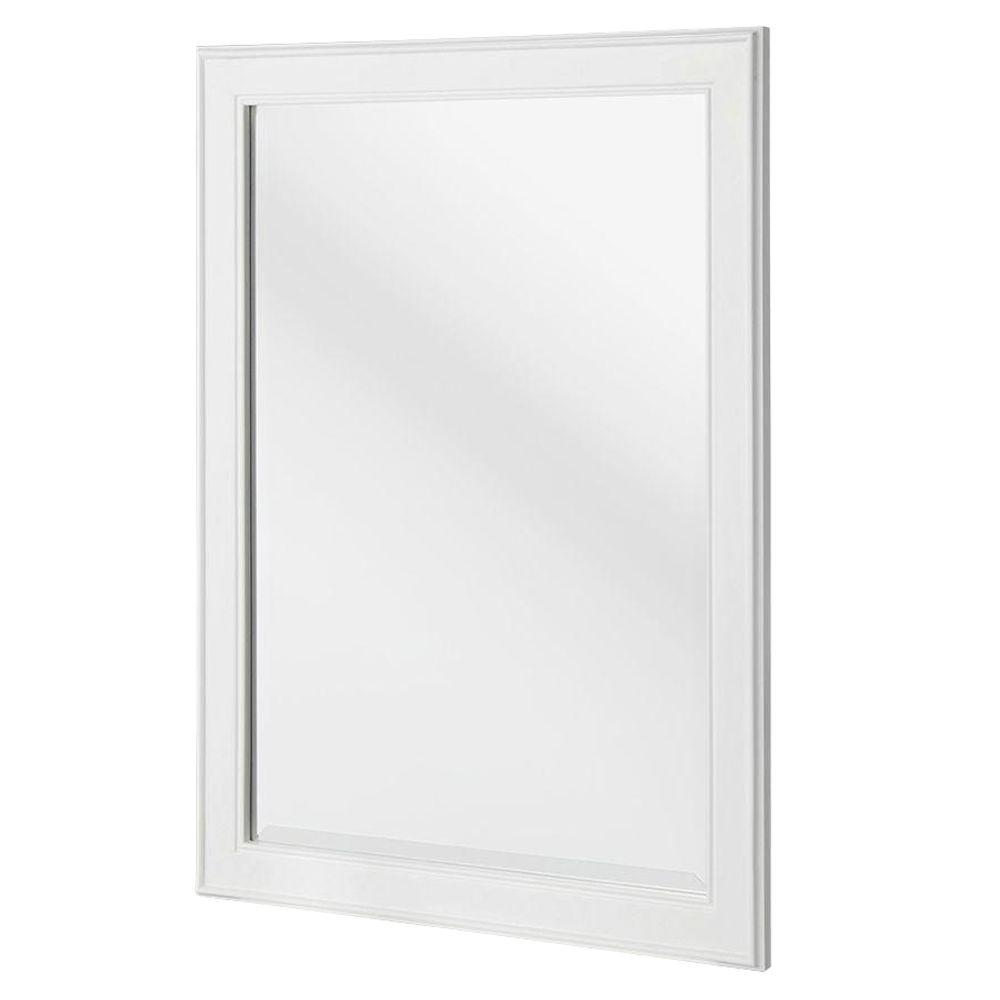 Home Decorators Collection Gazette 24 In. X 32 In. Framed Wall Mirror In  White