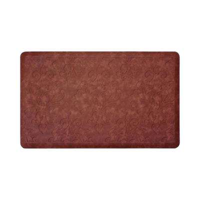 Marni Red 32 in. x 20 in. Embossed Gelness Mat