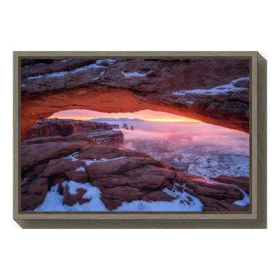 """The Moment right before Sunrise"" by Daniel F. Framed Canvas Wall Art"
