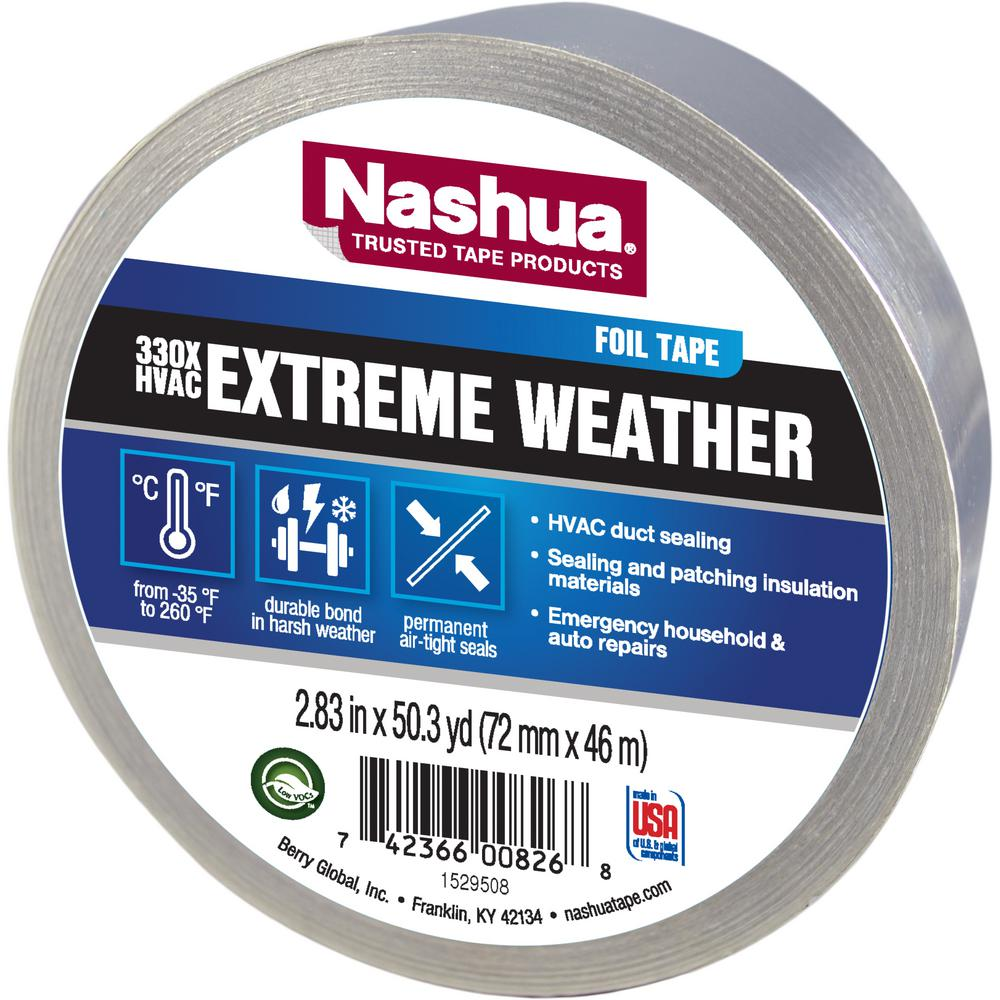 Nashua Tape 2.83 in. x 50 yd. 330X Extreme Weather HVAC Foil Tape