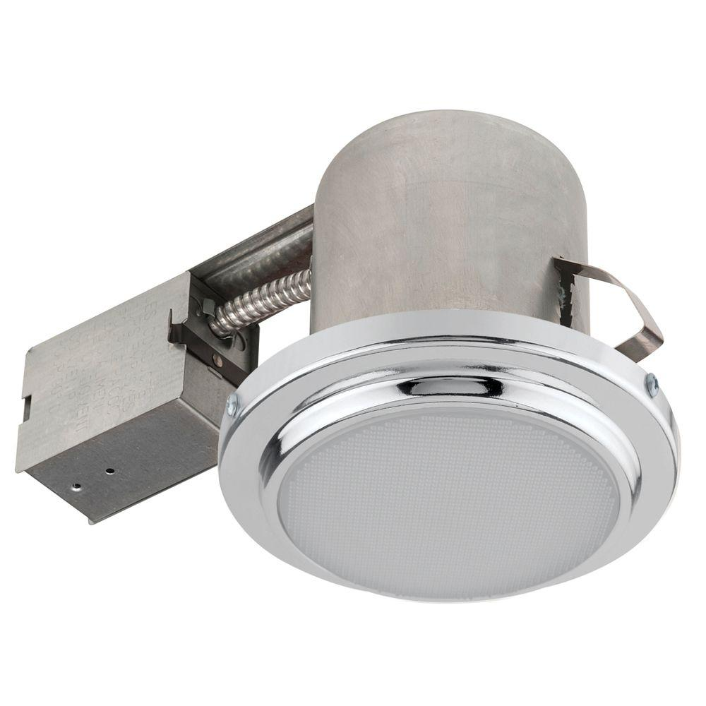 Globe Electric 5 in. Brushed Steel Recessed Shower Light Fixture
