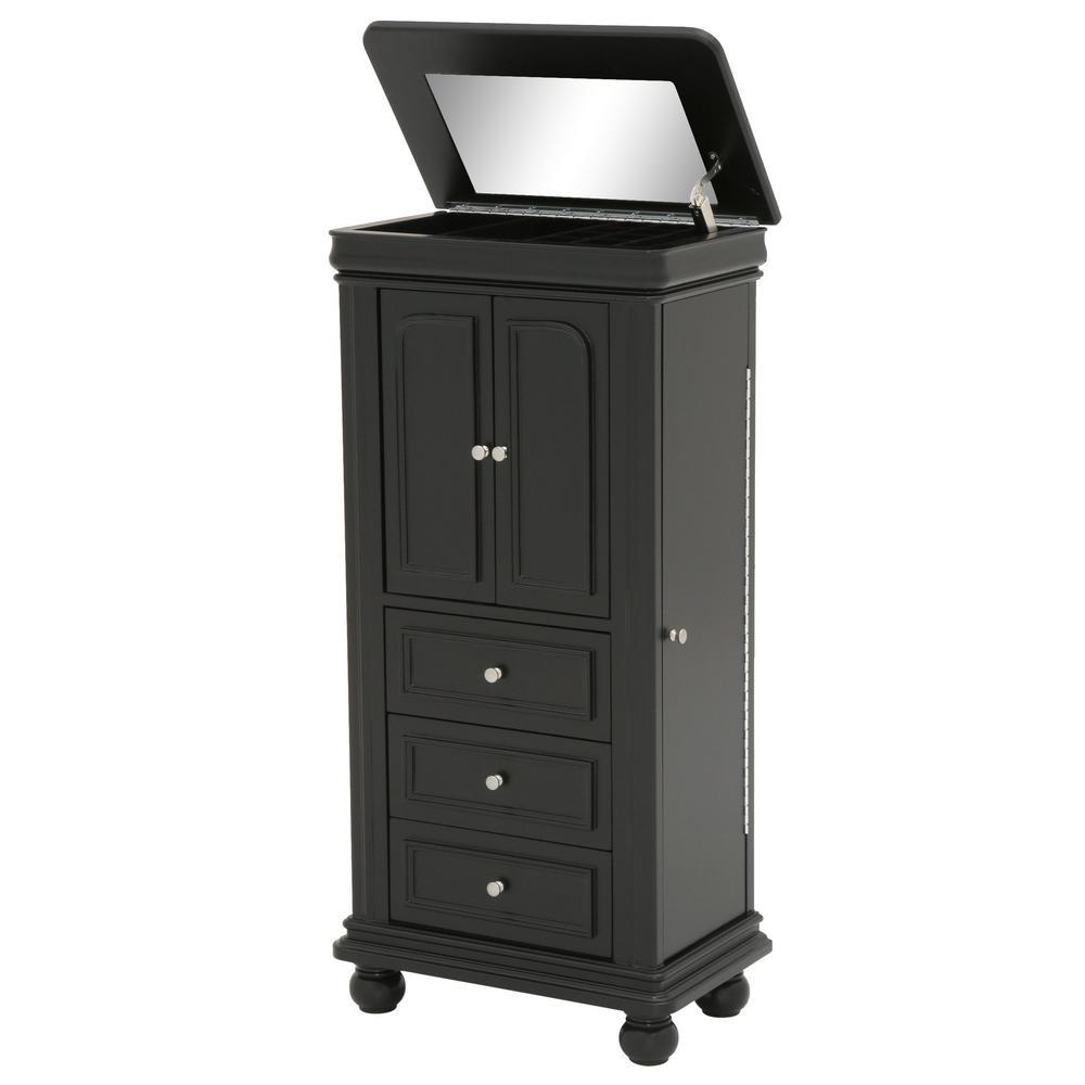 Home Decorators Collection Genevieve Black Jewelry Armoire 9833600200