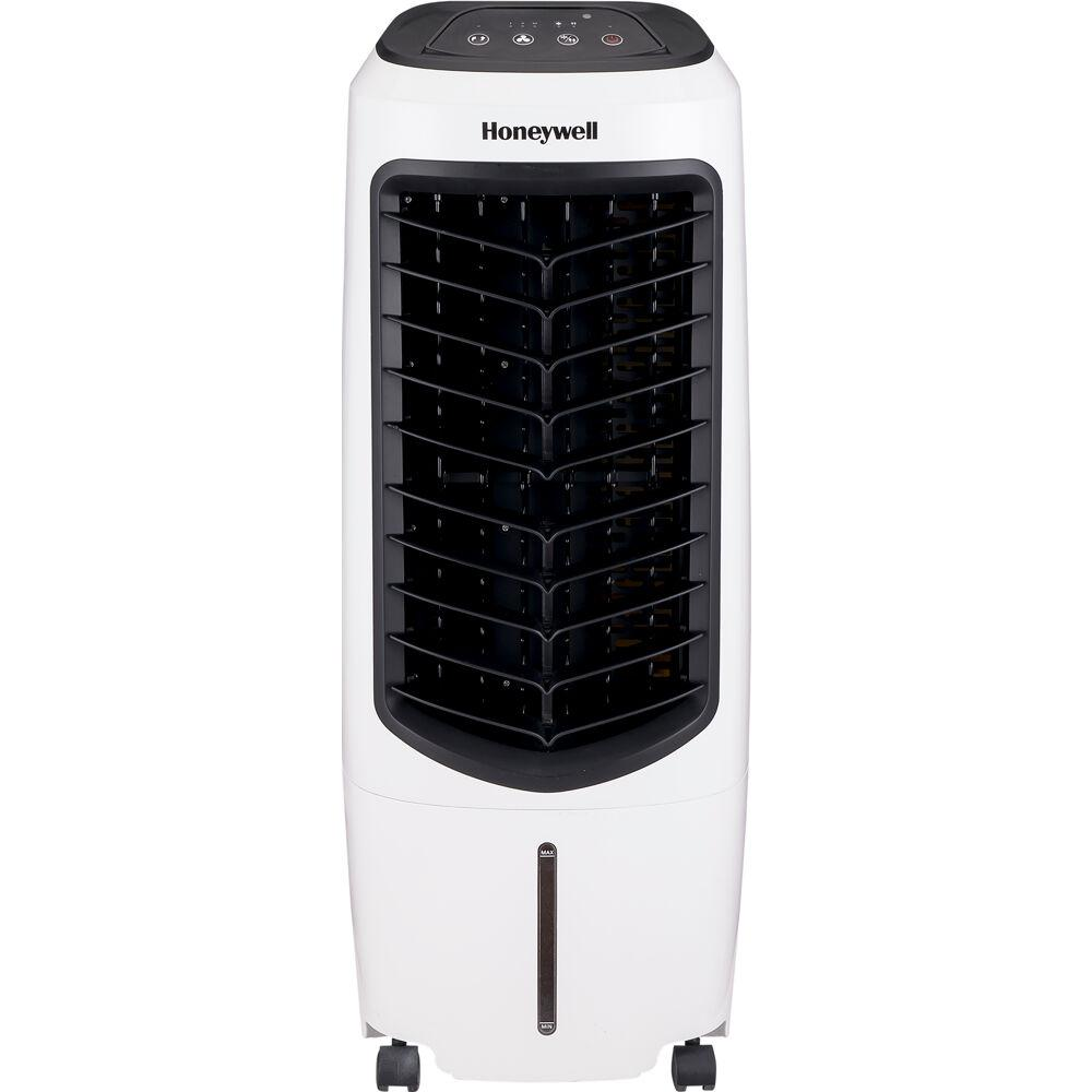 Honeywell 194 Cfm 3 Speed Portable Evaporative Cooler For 120 Sq Ft With Remote Control In White Tc10peu The Home Depot