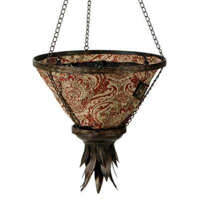 Black Sierra Hanging Planter With Venice Liner