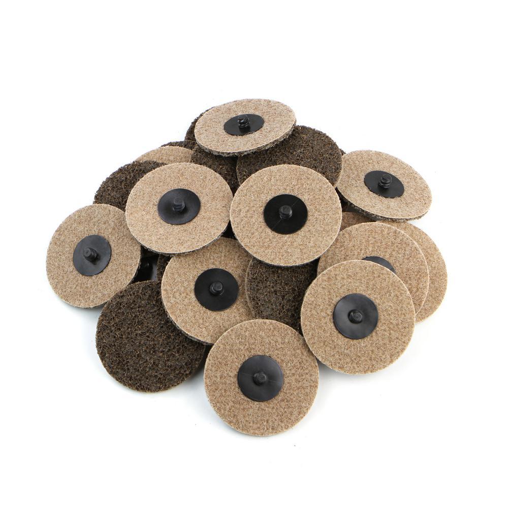 3 in. Coar Grit Roloc Cleaning Roll Lock Sanding Disc (25-Piece)