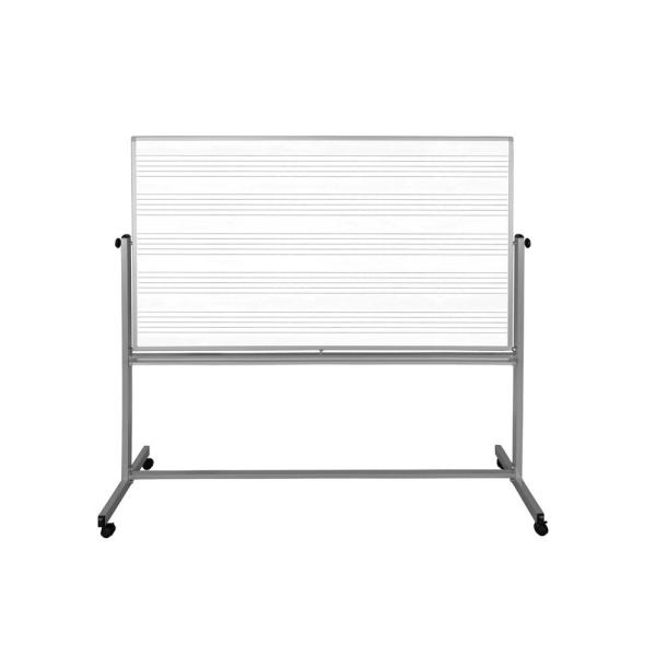 72 in. x 48 in. Mobile Double Sided Music Whiteboard