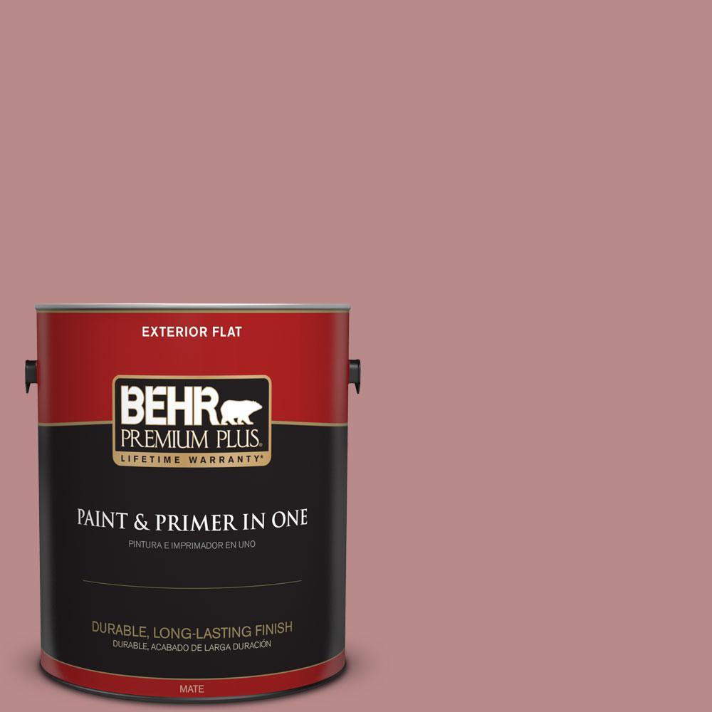 BEHR Premium Plus 1-gal. #150F-4 Victorian Mauve Flat Exterior Paint