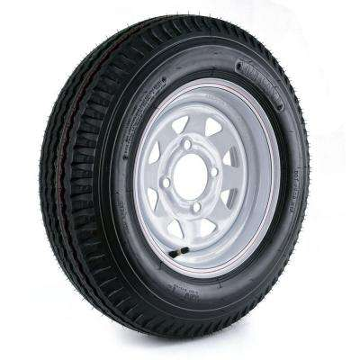 530-12 Load Range C 4-Hole Custom Spoke Trailer Tire and Wheel Assembly