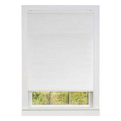 Honeycomb White Cellular Cordless Polyester Pleated Shade - 30 in. W x 64 in L