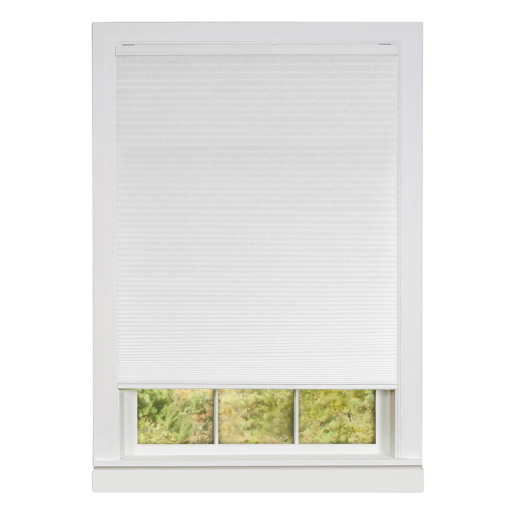 Honeycomb White Cellular Cordless Polyester Pleated Shade - 36 in. W