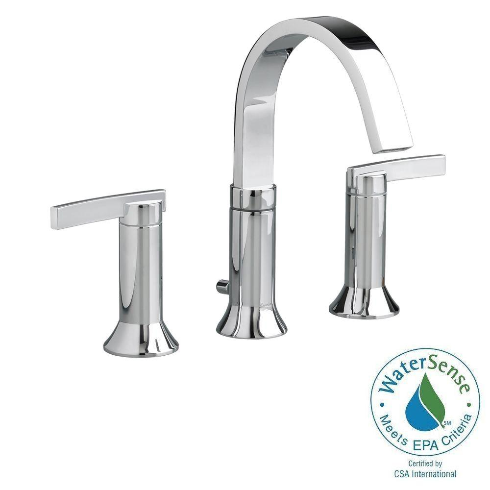American Standard Berwick 8 in. Widespread 2-Handle High-Arc Bathroom Faucet in Polished Chrome with Speed Connect Drain