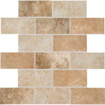 Grand Cayman Oyster Blend 12 in. x 12 in. x 8 mm Ceramic Brick-Joint Mosaic Tile