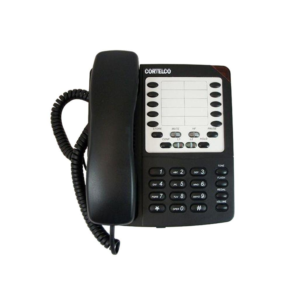 Cortelco Colleague 2-Line Corded Telephone - Black