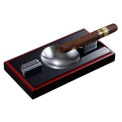 Hydra Black and Red Wooden Cigar Ashtray