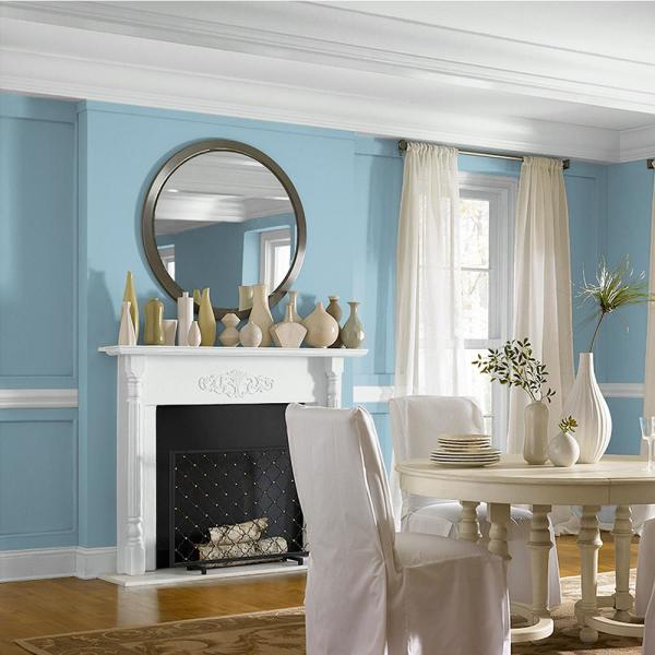 Reviews For Behr Marquee 5 Gal S480 3 Sydney Harbour One Coat Hide Matte Interior Paint Primer 145005 The Home Depot