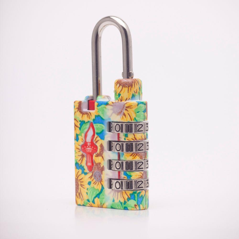Safe Skies Flower Power 4 Dial TSA Combination Lock in Sunflowers-DISCONTINUED