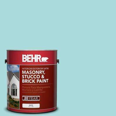 1 gal. #M460-2 Beachside Drive Satin Interior/Exterior Masonry, Stucco and Brick Paint