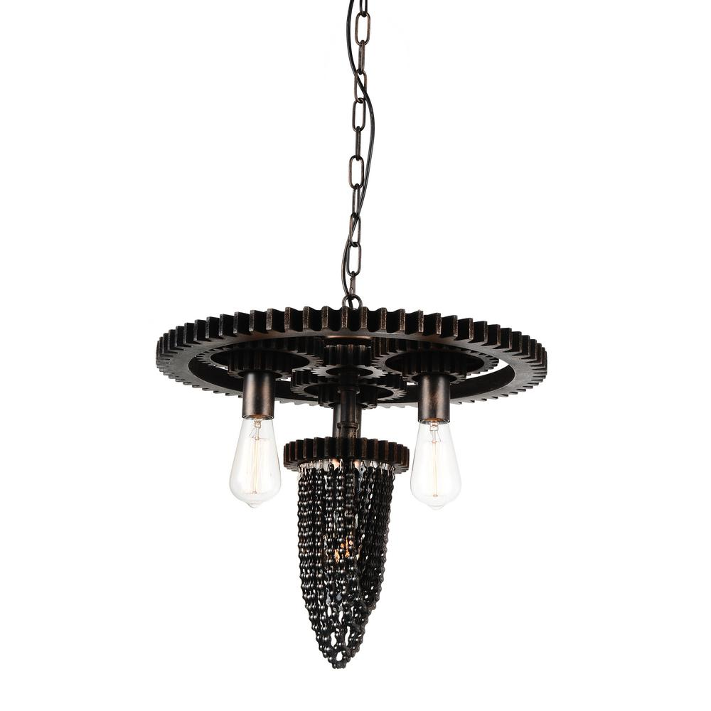 CWI Lighting Union 4-Light Gray Chandelier-9726P20-4-187 - The Home ...