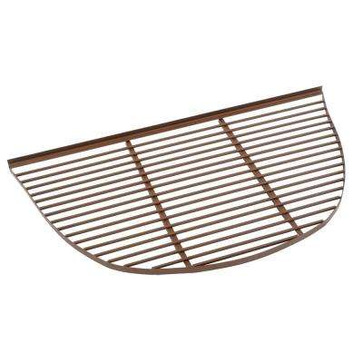 47 in. x 74 in. Half Round Elite Metal Window Well Bar Grate