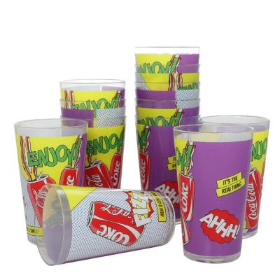 Pop Art 12-Piece Melamine Tumbler Set